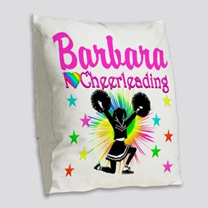 CHEERLEAD FOREVER Burlap Throw Pillow