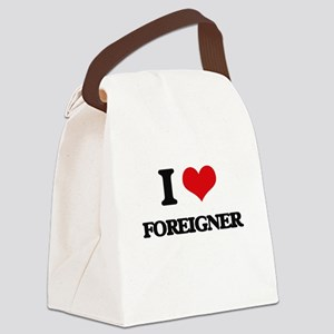 I Love Foreigner Canvas Lunch Bag