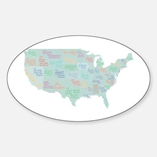 State Mottos Sticker (Oval)