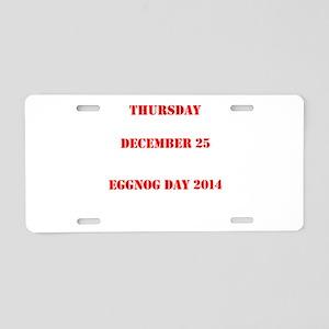 Eggnog Day Aluminum License Plate