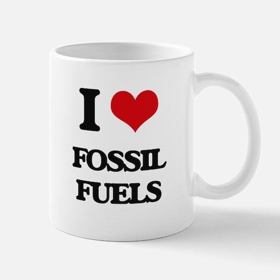 I Love Fossil Fuels Mugs