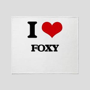 I Love Foxy Throw Blanket