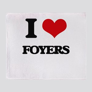I Love Foyers Throw Blanket