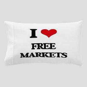 I Love Free Markets Pillow Case