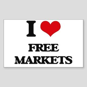 I Love Free Markets Sticker