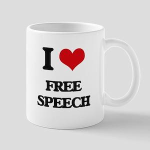 I Love Free Speech Mugs