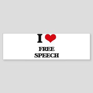 I Love Free Speech Bumper Sticker