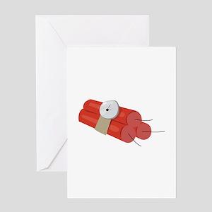 Dynamite Sticks Greeting Cards