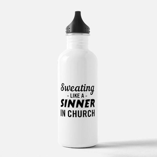 Sweating Like A Sinner In Church Water Bottle