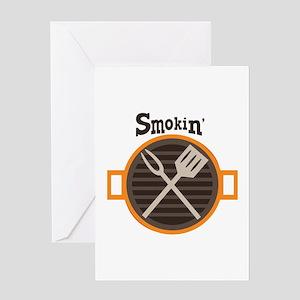 Smokin BBQ Greeting Cards