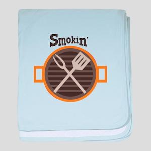 Smokin BBQ baby blanket