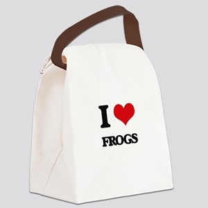 I Love Frogs Canvas Lunch Bag