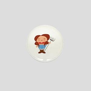 Farmer Girl Mini Button