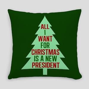 Anti Trump Christmas Everyday Pillow