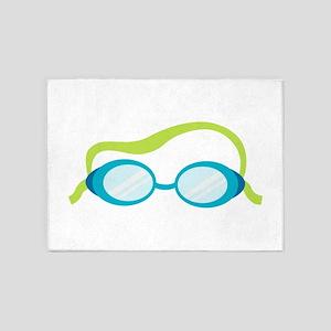 Swimming Goggles 5'x7'Area Rug
