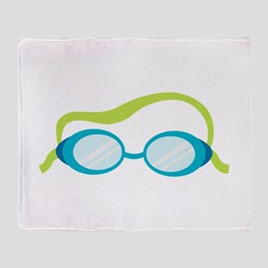 Swimming Goggles Throw Blanket