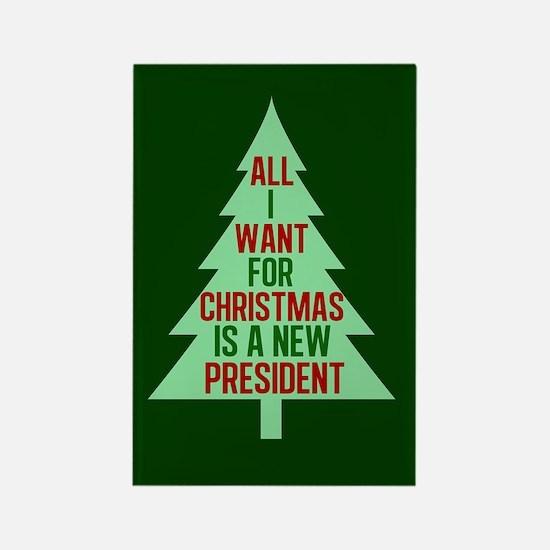Anti Trump Christmas Rectangle Magnet