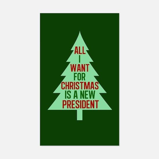 Anti Trump Christmas Sticker (Rectangle)