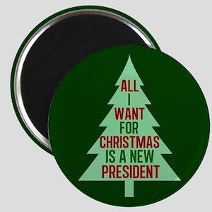 Anti Trump Christmas Magnet