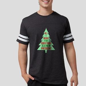 Anti Trump Christmas Mens Football Shirt