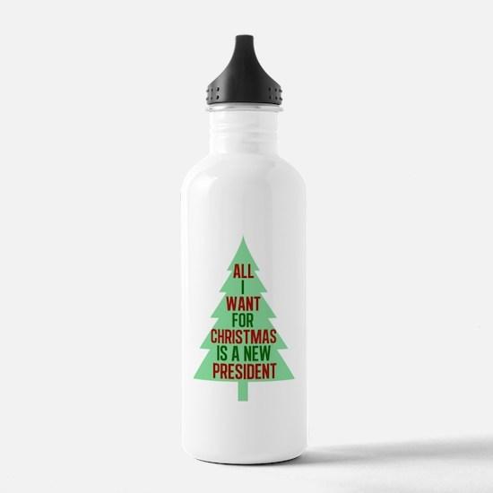 Anti Trump Christmas Water Bottle