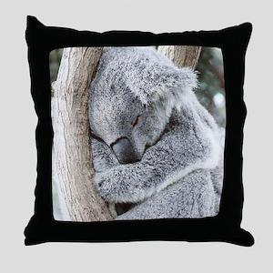 Sleeping Koala baby Throw Pillow