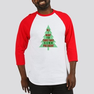 Anti Trump Christmas Baseball Tee