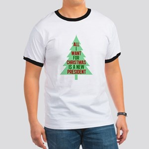 Anti Trump Christmas Ringer T