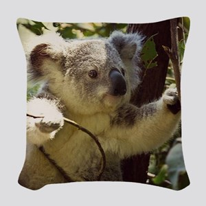 Sweet Baby Koala Woven Throw Pillow