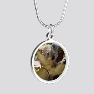 Sweet Baby Koala Silver Round Necklace