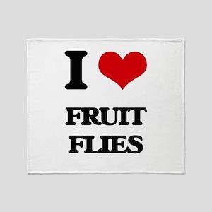 I Love Fruit Flies Throw Blanket