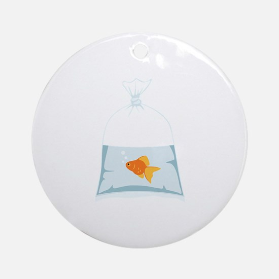 Goldfish In Bag Ornament (Round)