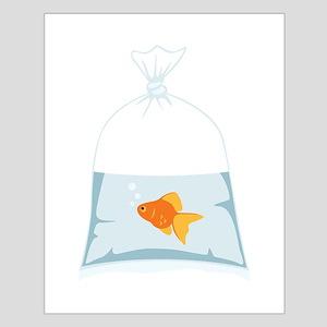 Goldfish In Bag Posters