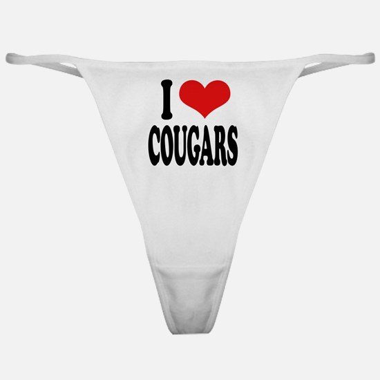 I Love Cougars Classic Thong