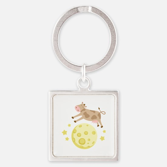 Cow Over Moon Keychains