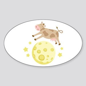 Cow Over Moon Sticker