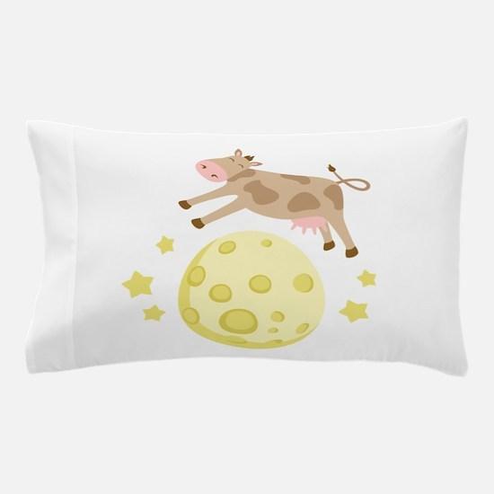 Cow Over Moon Pillow Case