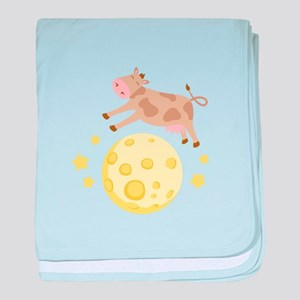 Cow Over Moon baby blanket
