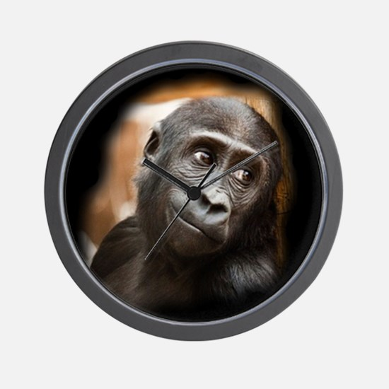 Smiling Gorilla Baby Wall Clock