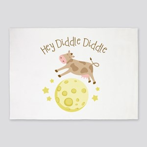 Hey Diddle Diddle 5'x7'Area Rug