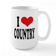 I Love Country Large Mug