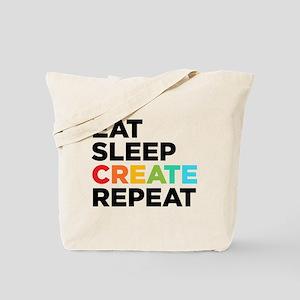 Eat Sleep Create Repeat Tote Bag