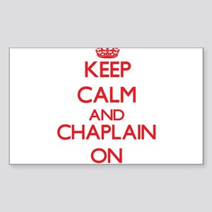 Keep Calm and Chaplain ON Sticker