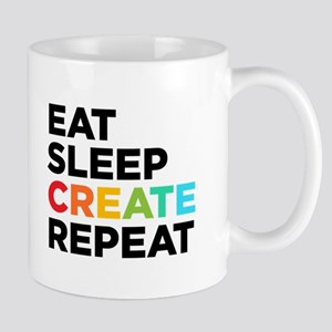 Eat Sleep Create Repeat Mug Mugs