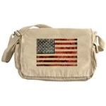 Vintage American Flag Messenger Bag