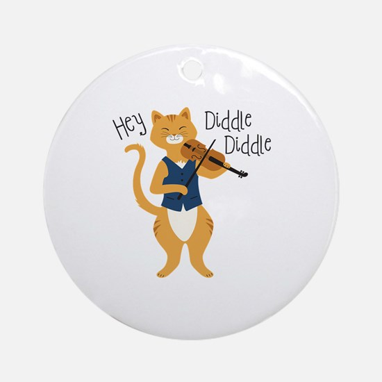 Hey Diddle Diddle Ornament (Round)