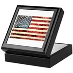 Vintage American Flag Keepsake Box