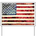 Vintage American Flag Yard Sign