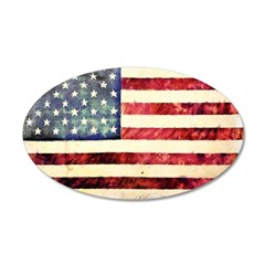 Vintage American Flag Wall Decal