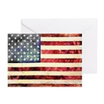 Vintage American Flag Greeting Cards